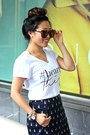 White-graphic-tee-bylucianam-shirt-brown-karen-walker-sunglasses