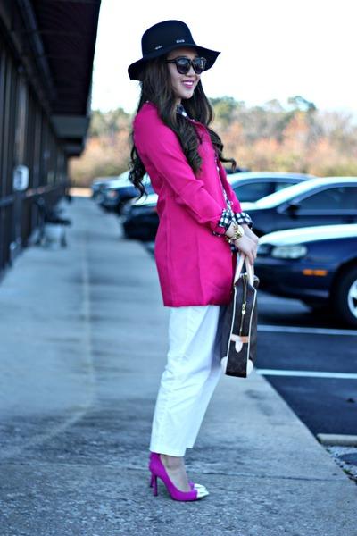 hot pink Everbuying jacket - black Forever 21 hat