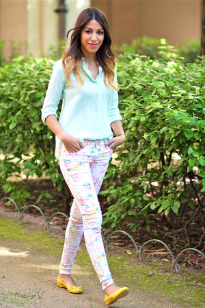 Zara shirt - Deby Debo pants - Marc by Marc Jacobs flats