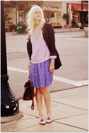 violet vintage dress - light pink Steve Madden shoes