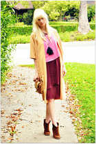 lulus dress - vintage jacket - H&M blouse