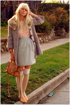vintage skirt - vintage sweater