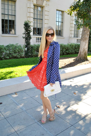 lace kensie dress - polka dots Jessica Simpson jacket
