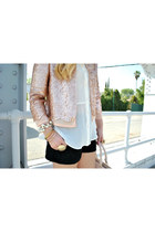 sequin Paper Crown blazer - lace LC Lauren Conrad shorts