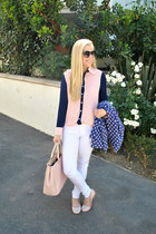Jessica Simpson jacket - white denim Lonnys jeans - ily couture bag