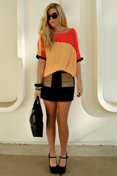 rachel roy blouse - rachel roy skirt