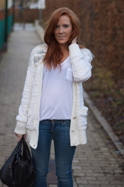 Sacha boots - H&M jeans - next bag - Filles  papa cardigan - Yesstyle top