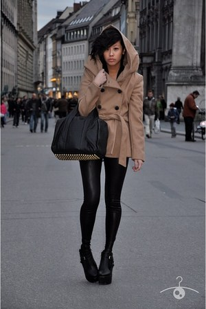 Zara coat - Tally Weijl leggings - Alexander Wang bag - unknown heels