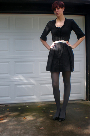 Charlotte Russe dress - belt - Target tights - shoes