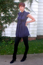 Twenty One dress - tights - Connie shoes