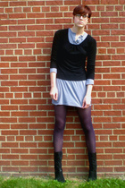 H&M sweater - American Apparel dress - tights - Connie shoes
