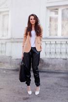 Zara blazer - Zara bag - H&M shorts - Sheinside pants - H&M t-shirt