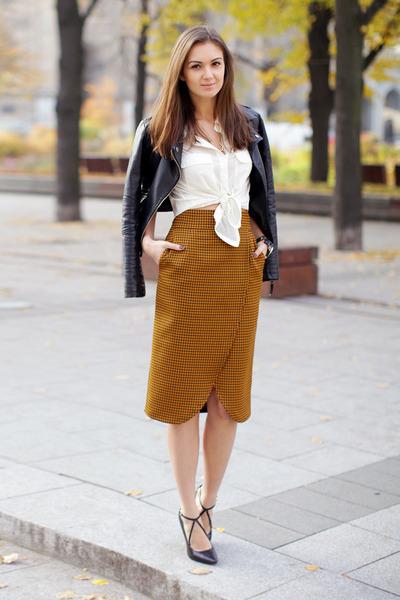 burnt orange pencil skirt Be Trendy skirt