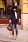 Burnt-orange-asos-boots-black-h-m-coat-brown-newlook-bag