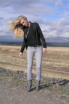 Forever 21 jacket - vintage top - citizens of humanity jeans - vintage shoes - F