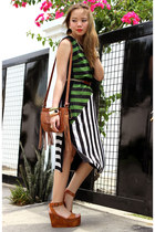 striped Sugarlips dress - bangles pinkaholic accessories