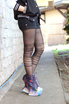 tights Romwecom tights - heel less Jeffrey Campbell x Blackmilk boots