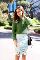 H&M skirt - asos sweater - 31 Phillip Lim bag - Karen Walker sunglasses