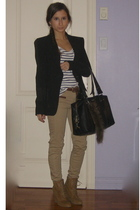 Zara blazer - Zara pants - Zara shoes - H&M shirt - Samsara purse