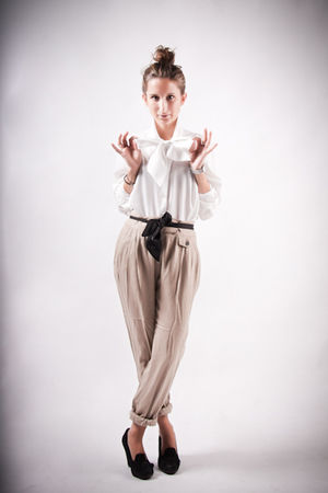 vintage blouse - Zara pants