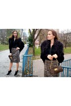 Victorias Secret sweater - Colin Stuart boots - Louis Vuitton purse