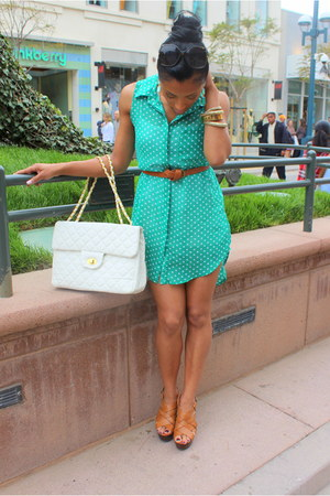 quilted foreign exchange bag - strappy Shoe Mint wedges
