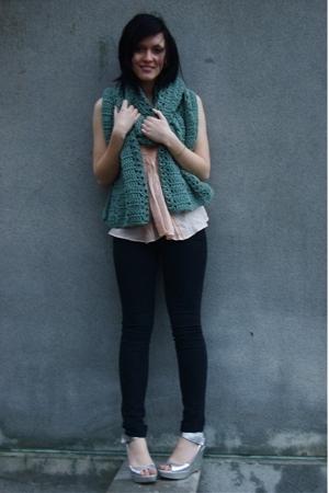 tara jarmon for target shirt - someones grandma scarf - Hot Topic pants - Nine W