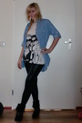 Black-only-jacket-blue-h-m-blouse-black-lemon-leggings-white-danny-roberts