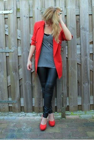 red Classiques Entier blazer - red H&amp;M shoes