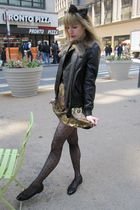 black 31 phillip lim jacket - gold Marc by Marc Jacobs dress - brown Theory belt