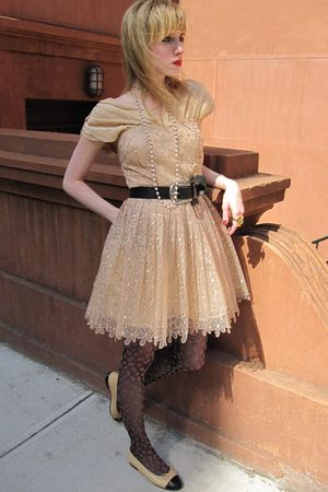 pink Frock by Tracy Reese dress - black Vintage Ralph Lauren belt - white Vintag
