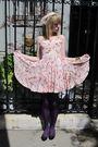 Pink-rebecca-taylor-dress-white-vintage-belt-gold-vintage-necklace-brown-b