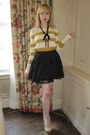 Cream-natalie-jcrew-sweater-black-bow-vintage-necklace