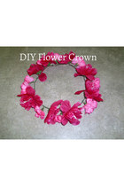 hot pink flower crown DIY accessories
