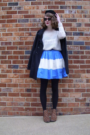 blue colorblocked eShakti dress - brown leopard print Target boots