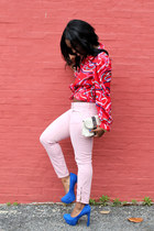 Kelsi Dagger pumps - Rich and Skinny jeans - vintage levis shirt - LAMB bag