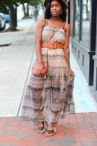 maxi dress Staring at Stars dress - Calvin Klien hat - H&M purse - Aldo sandals