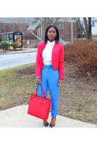Premise blazer - Michael Kors bag - madewell pants - asos pumps