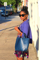Zara bag - Yumi Kim dress - Elizabeth and James sunglasses - Target cardigan