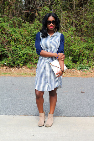 Zara jacket - Nine West boots - Old Navy dress - Zara shirt