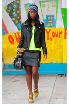 vintage skirt - Forever 21 jacket - Mossimo shirt - Mulberry bag