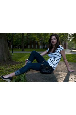 H&M dress - Forever 21 jeans - asos bag - life stride wedges