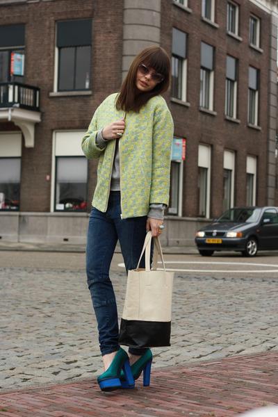 H&M Trend jacket - VJ-style bag - acne pumps