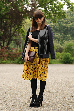 OASAP skirt - romwe boots - Marni x H&amp;M jacket - Beginningboutique sunglasses