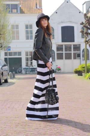 H&amp;M dress - SuperTrash jacket - Comme des Garcons hat - Primark purse