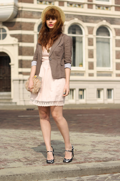 Only dress - vintage hat - Miu Miu heels