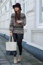 Zara sweater - VJ-style bag