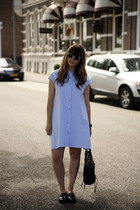 shirt Front Row Shop dress - balenciaga bag - asos sunglasses