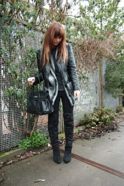 Topshop jacket - Vero Moda cardigan - H&M shirt - Primark boots