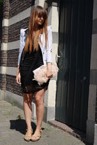 H&M shoes - asos dress - TheScarletRoom jacket - asos bag